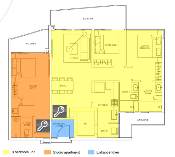 Condominium / Apartment Dualkey floorplan